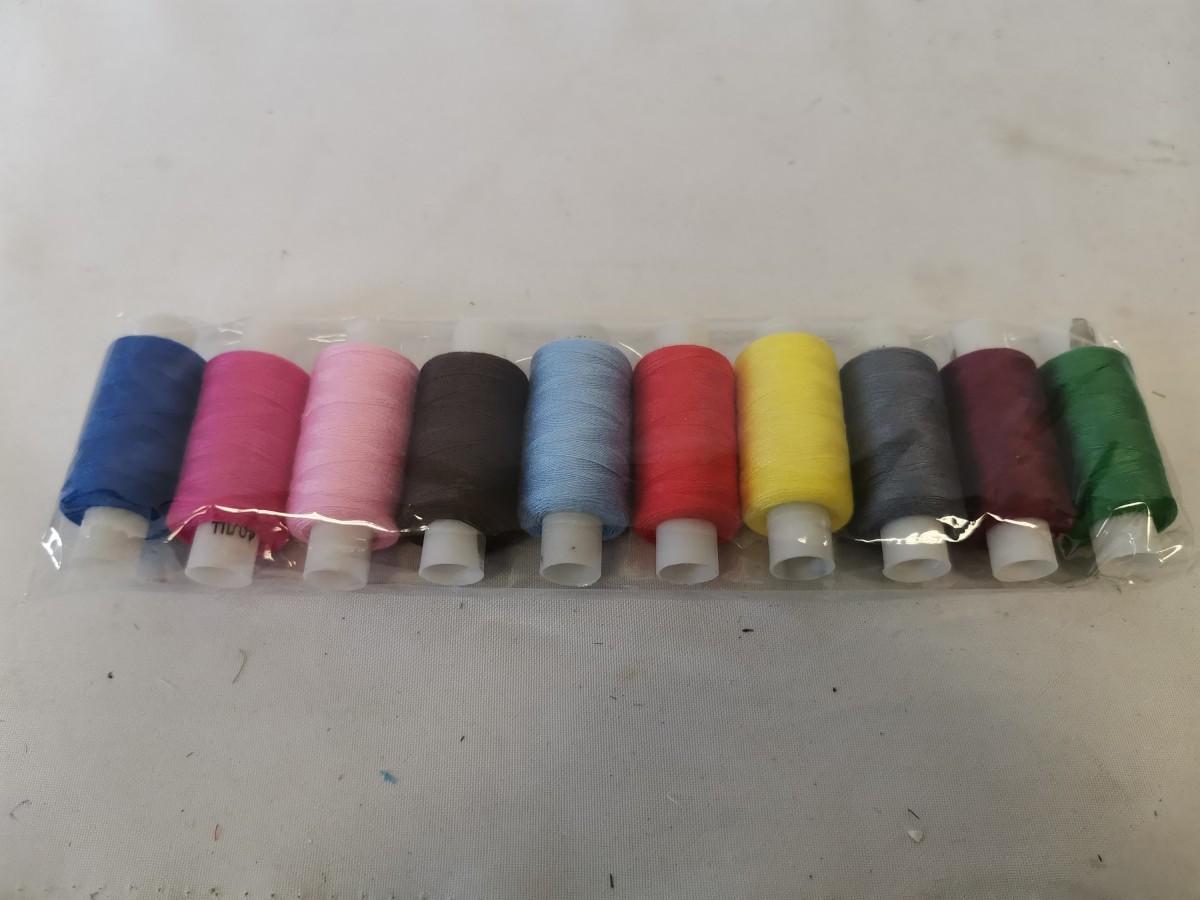 Нитки швейные цветные 40лл ПЭ 200м Экстра 10 штук