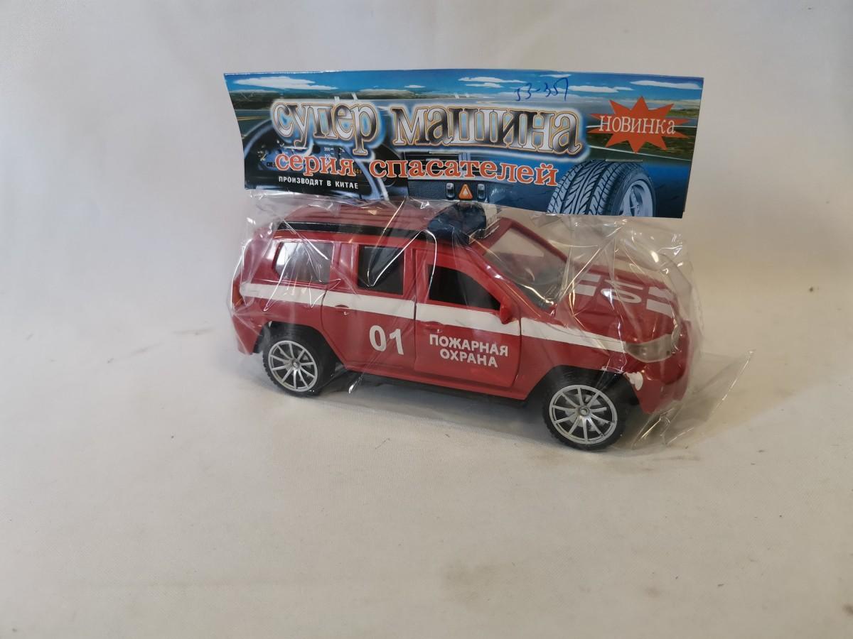 """Машина """"Пожарная охрана"""" 01, 19*8*8 см, в коробке, с открывающимися дверками."""