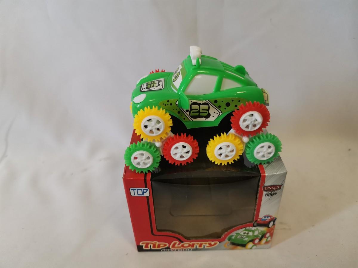 Перевёртыш - джип, 12,5*9*10,5 см, в коробке, на батарейках.