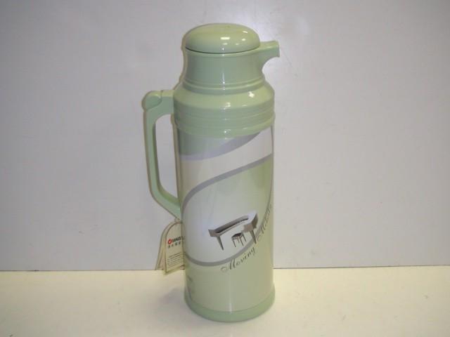 Термос-кофейник металлический, стеклянная колба, 2 литра