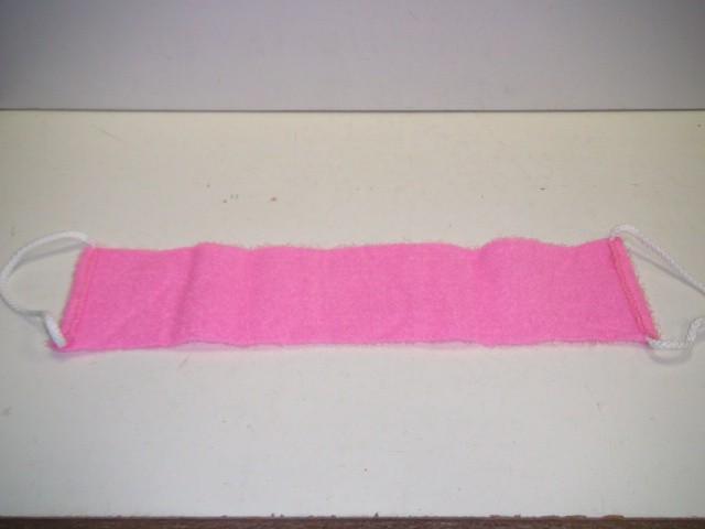 Мочалка с ручками, розовая, сизаль 12*50 см.