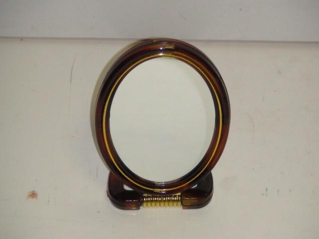 Зеркало двухстороннее, увеличивающее, овал 8*13 см.. (1 уп.-12 штук)