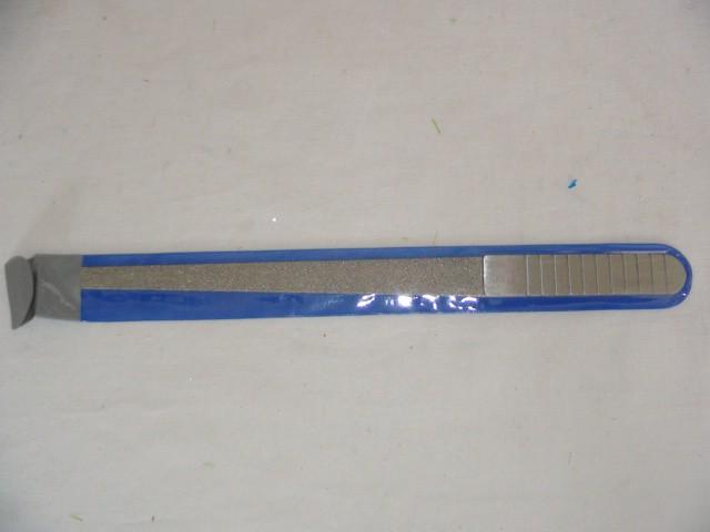 Пилка для ногтей на блистере, металл, 15 см.