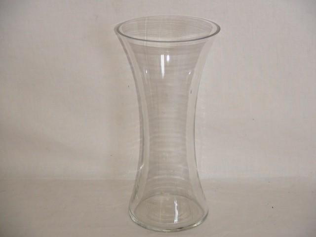 Ваза стеклянная 20*10 см., стекло