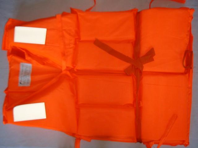 Жилет спасательный оранжевый, большой, ткань, пенопласт