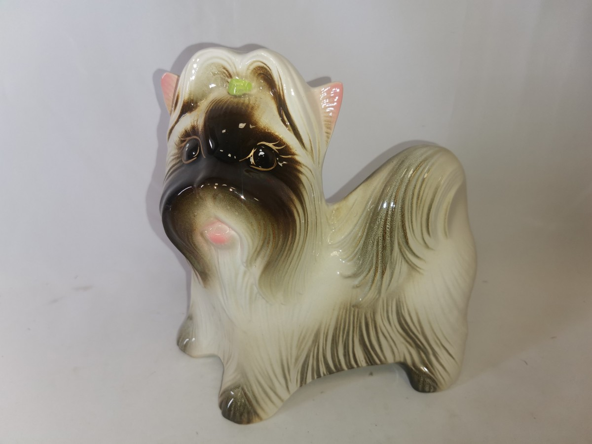 "Копилка ""Собачка - Ми-Ми"", 25*24 см, керамика, цвет - белый."
