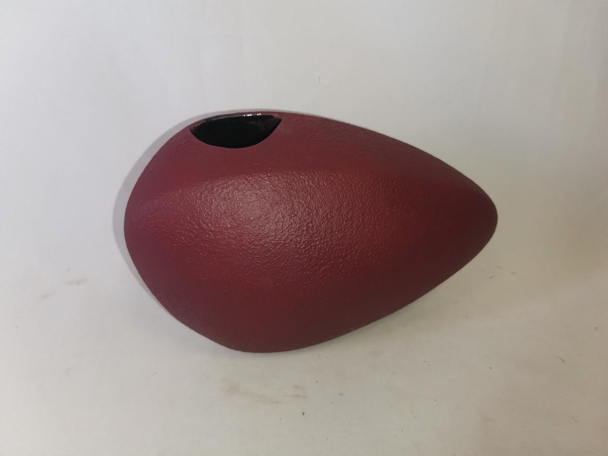 """Ваза """"Камень №2"""", керамика, бархат, 18*27*12 см, цвет - бардовый."""