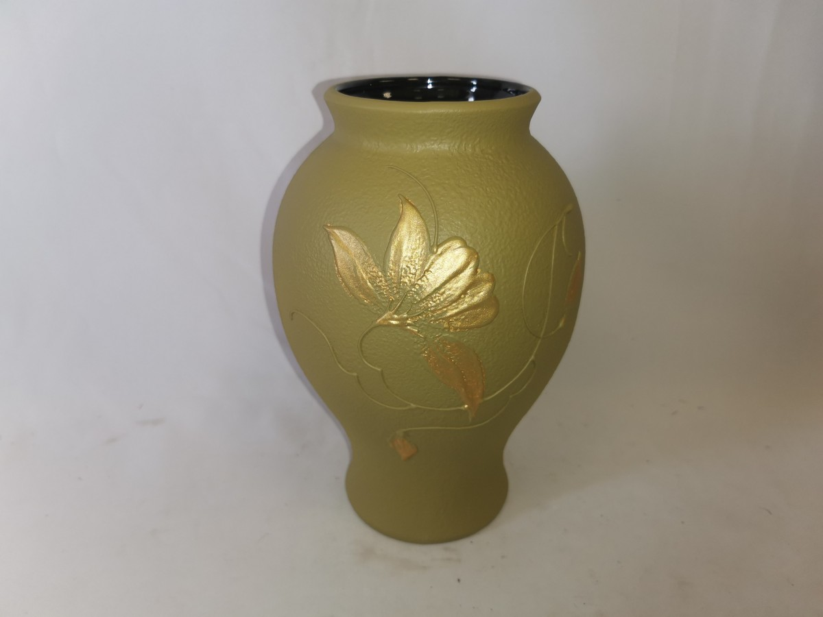 "Ваза ""Шарм"", 24*16 см, керамика, цвет - зелёный."