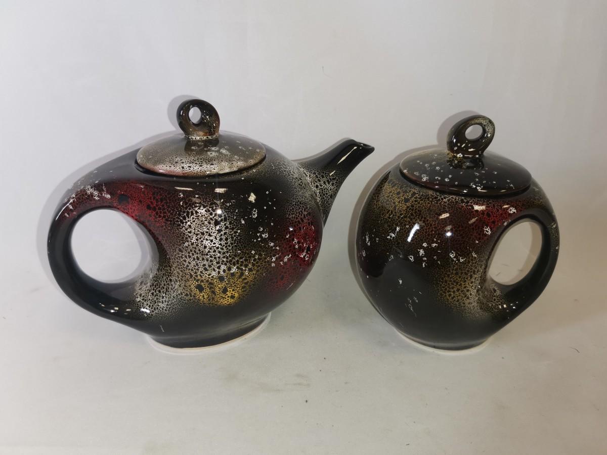 """Чайный набор """"китайский"""", 2 предмета: чайник + сахарница."""