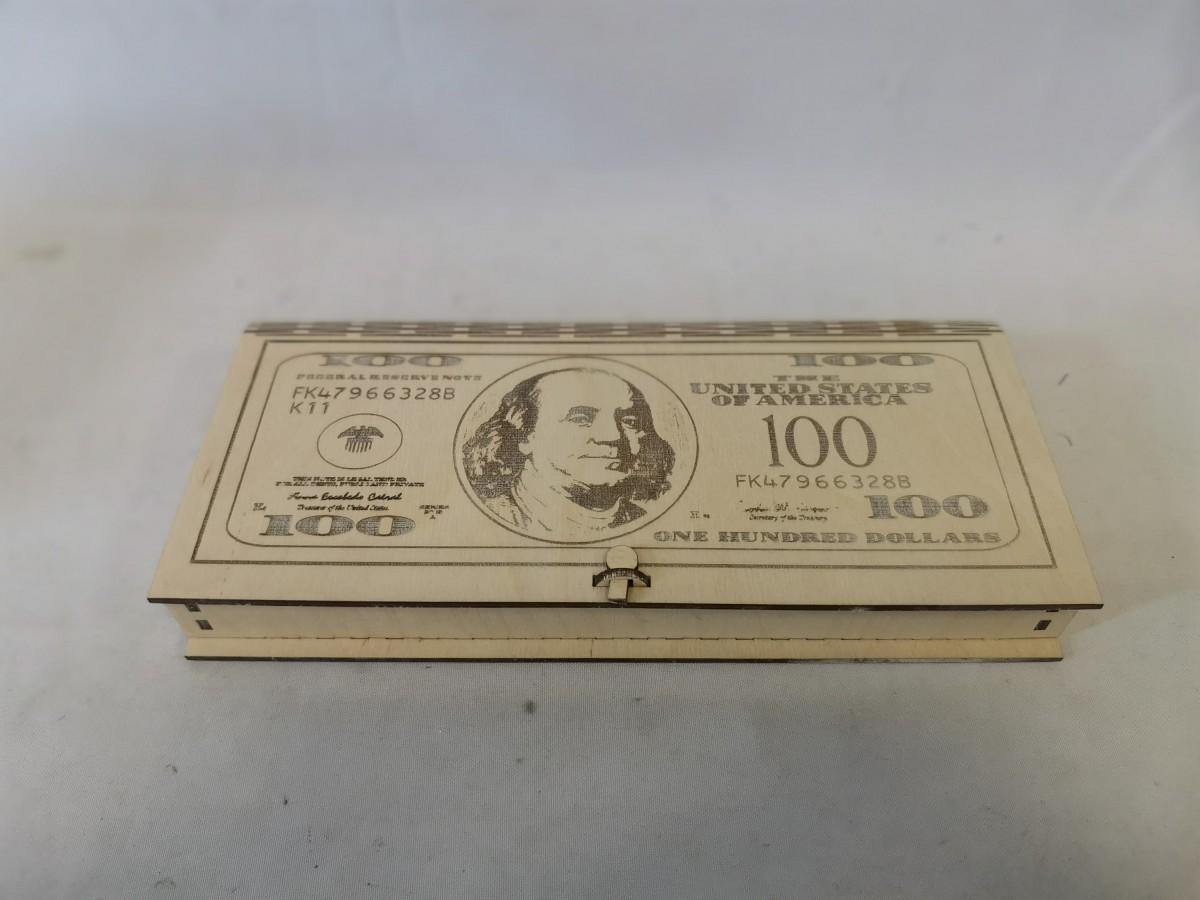 """Купюрница """"100$"""", 25*12*3*0,3 см."""