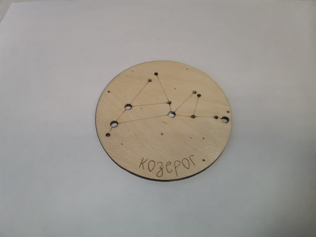 """Подставка под горячее """"Знак Зодиака - Козерог"""", 9*0,3 см."""