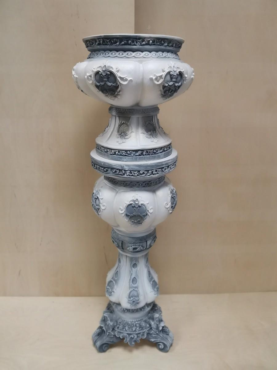 """Комплект """"Клеопатра"""" : колонна + ваза, h- 132 см, цвет - античный, гипс."""
