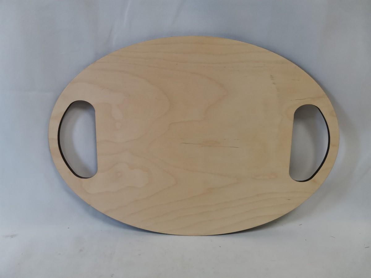 """Доска разделочная деревянная, 40*28*0,6 см, """"овал""""."""