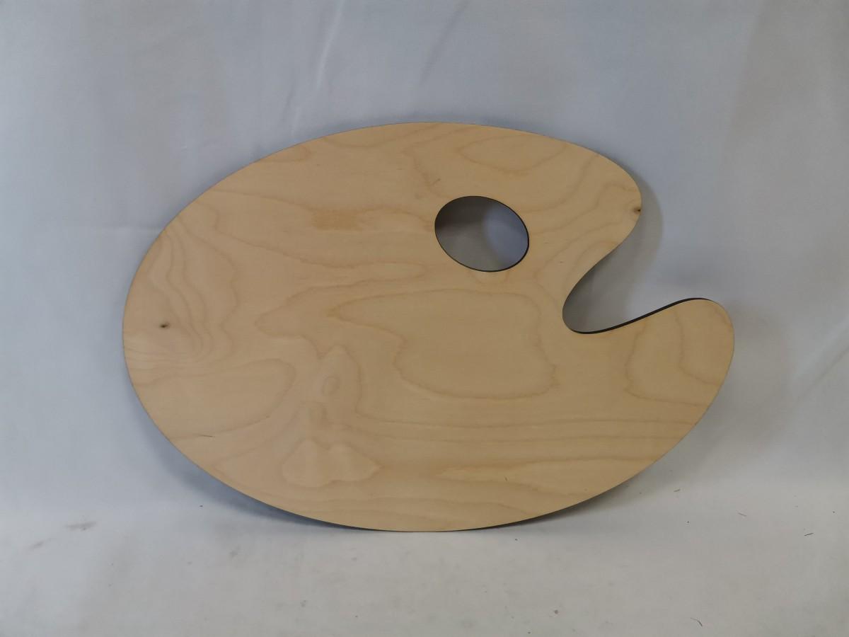 """Доска разделочная деревянная, 40*28*0,6 см, """"акварель""""."""