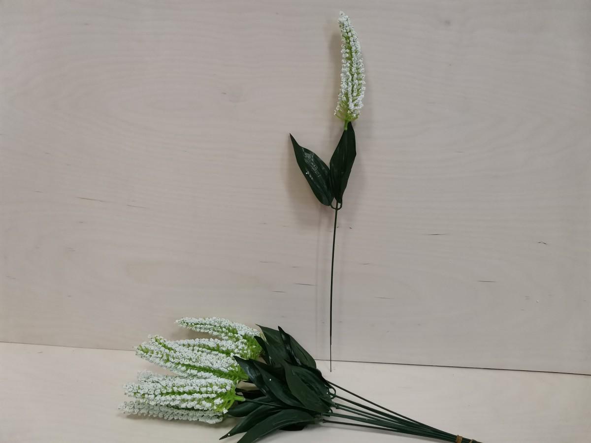Искусственная ветка кукурузки одиночная, 43 см, цена за 1 штуку, цвет - белый. ВЫПИСЫВАТЬ КРАТНО 10 ШТУКАМ.