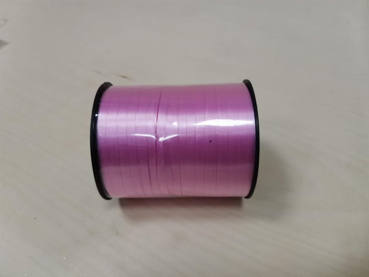 Лента - бабина, 0,5 см * 500 м, цвет - розовый.
