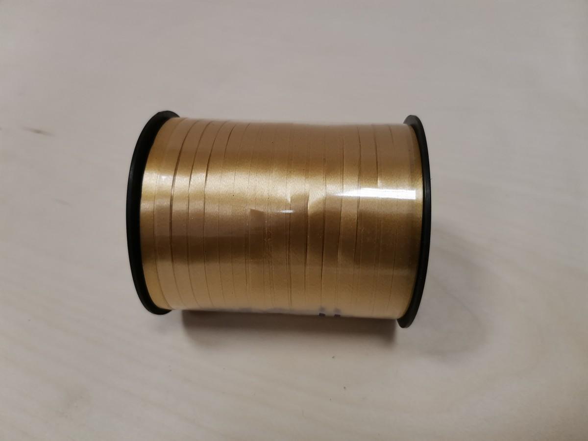 Лента - бабина, 0,5 см * 500 м, цвет - золотистый.