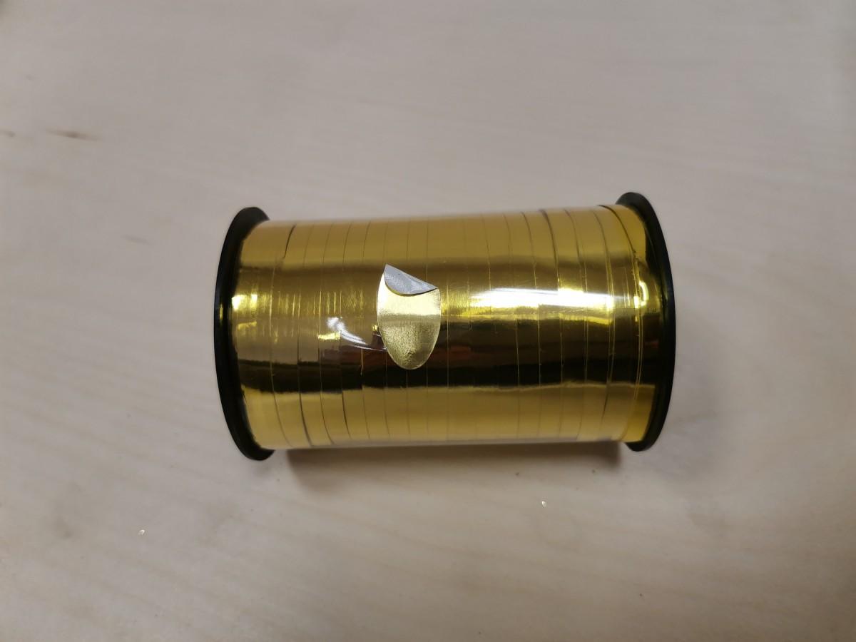 Лента - бабина, 0,5 см * 250 м, цвет - золото.