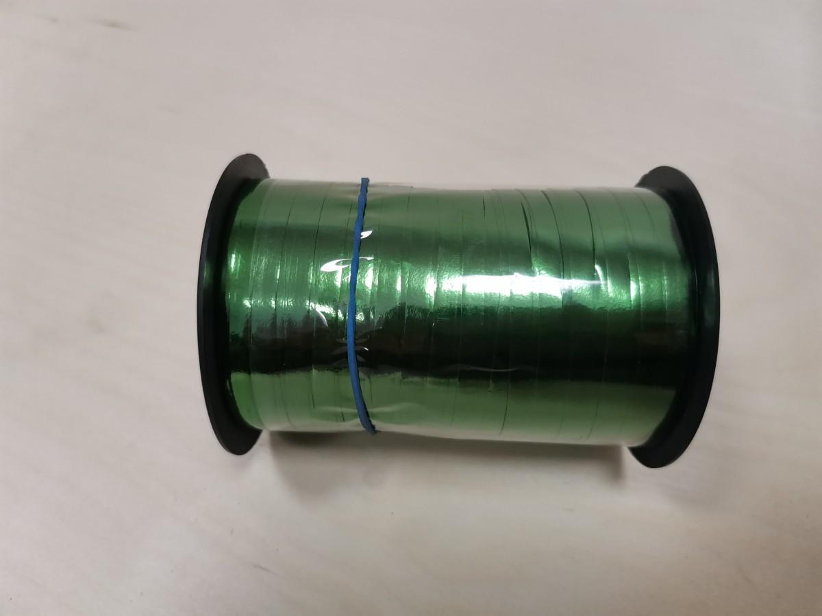 Лента - бабина, 0,5 см * 250 м, цвет - зелёный.