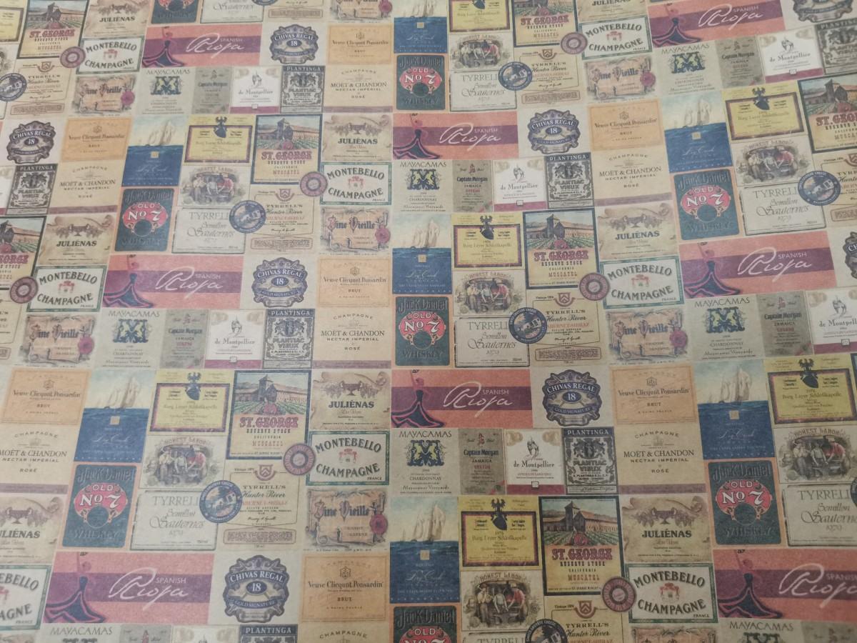 """Бумага """"Крафт"""" дизайнерская, 1*70, 78 гр, ЦЕНА ЗА 10 ЛИСТОВ, Винные марки."""