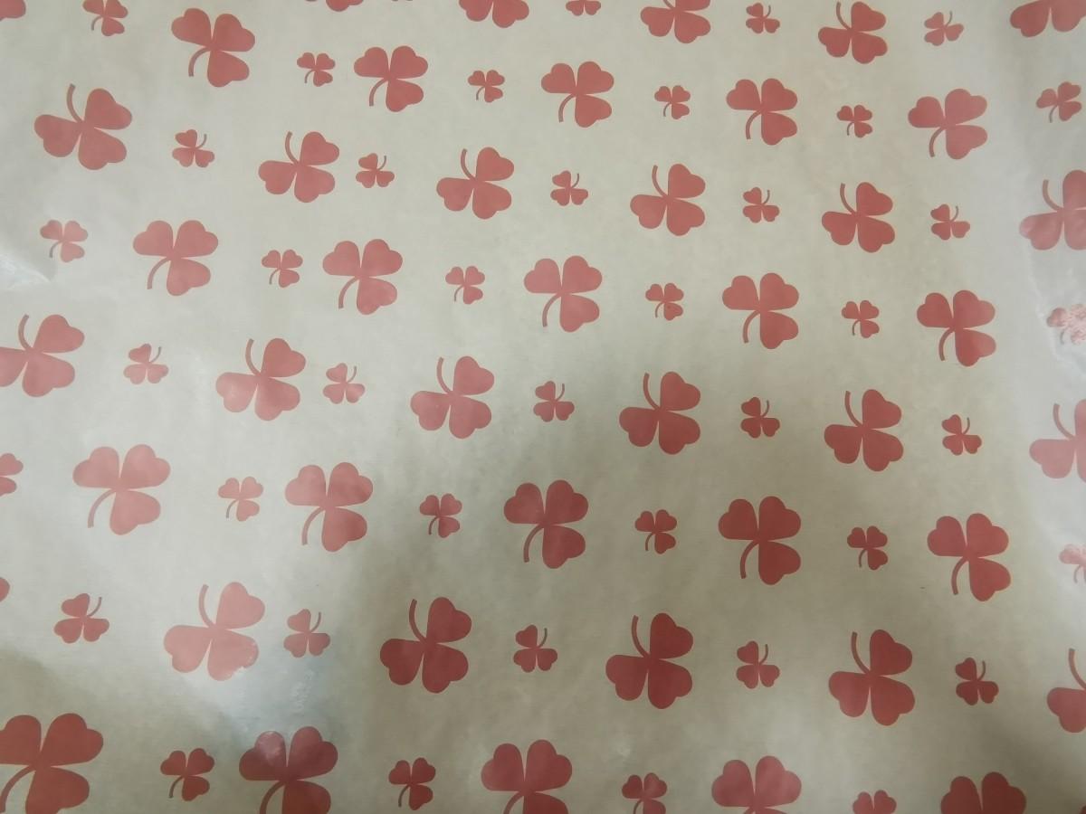"""Крафт бумага цветочная, 72 см * 10 м, 40г/м2, """"Цветок красный""""."""
