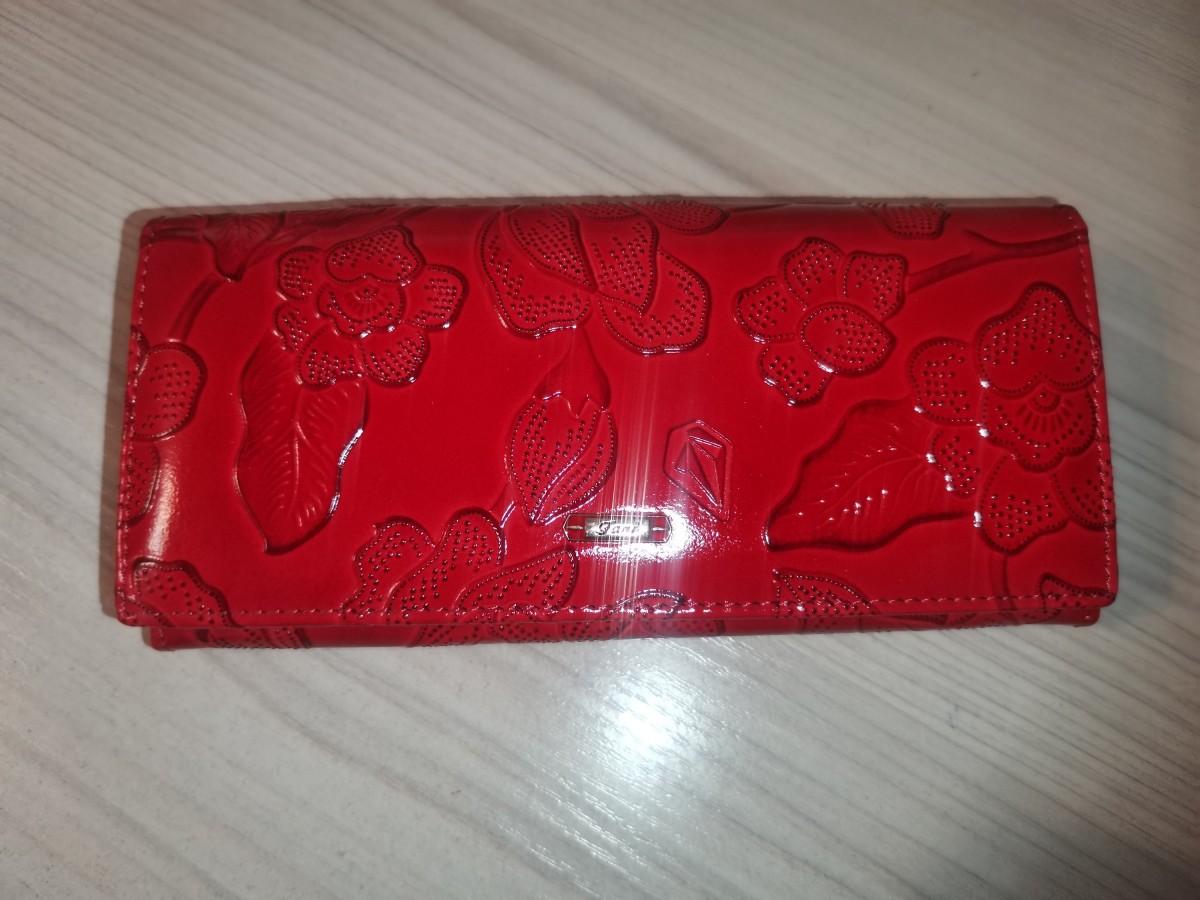 Кошелёк женский, кожа, 19*10*3 см, 7 отделений, с отделением под визитные карточки, с магнитной застёжкой.