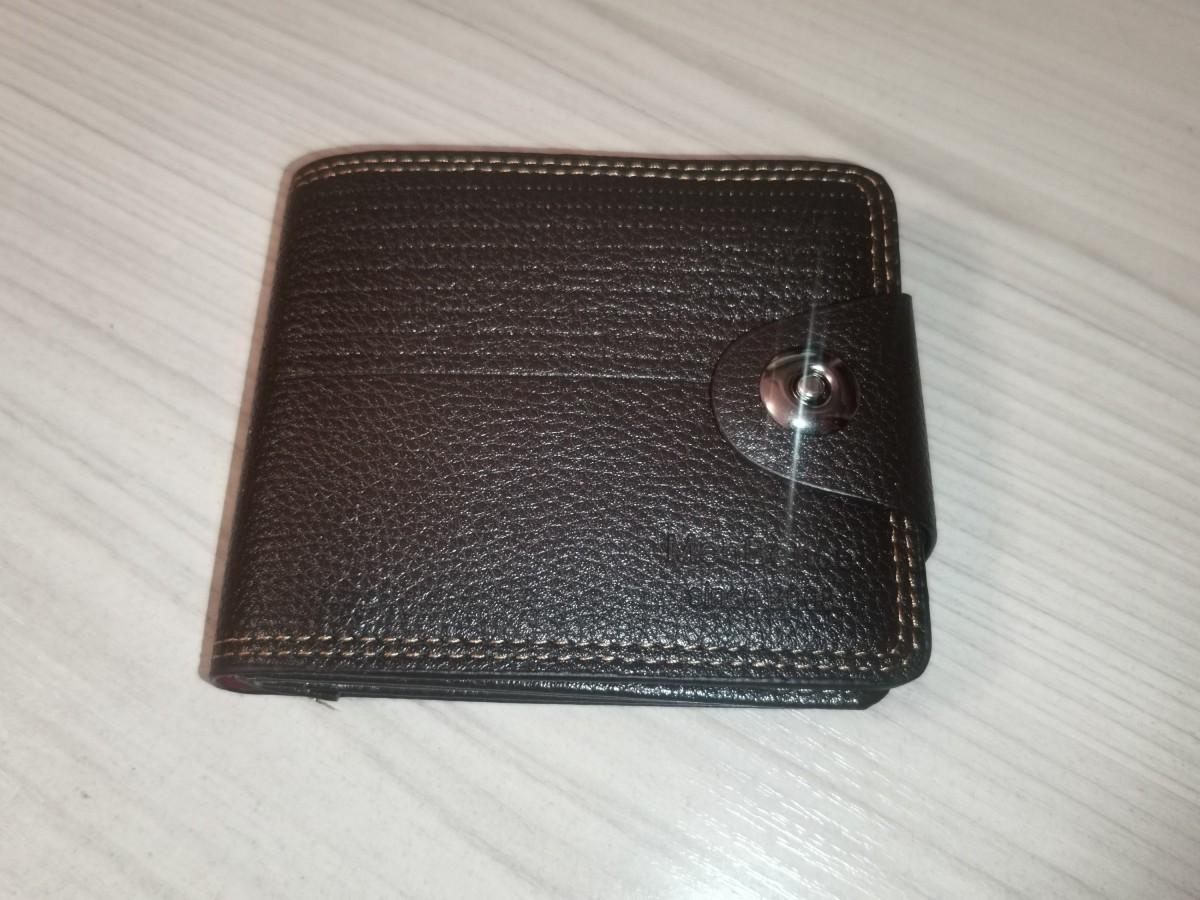 Портмоне мужское 10*12*2 см, магнитная застежка, эко-кожа, в коробке.