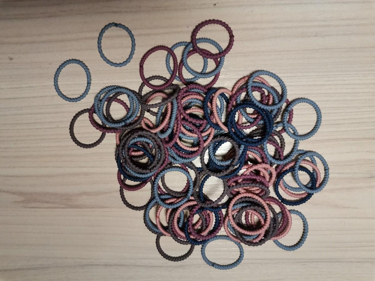 Резинки - жгутики мелкие, тёмные (100 шт)