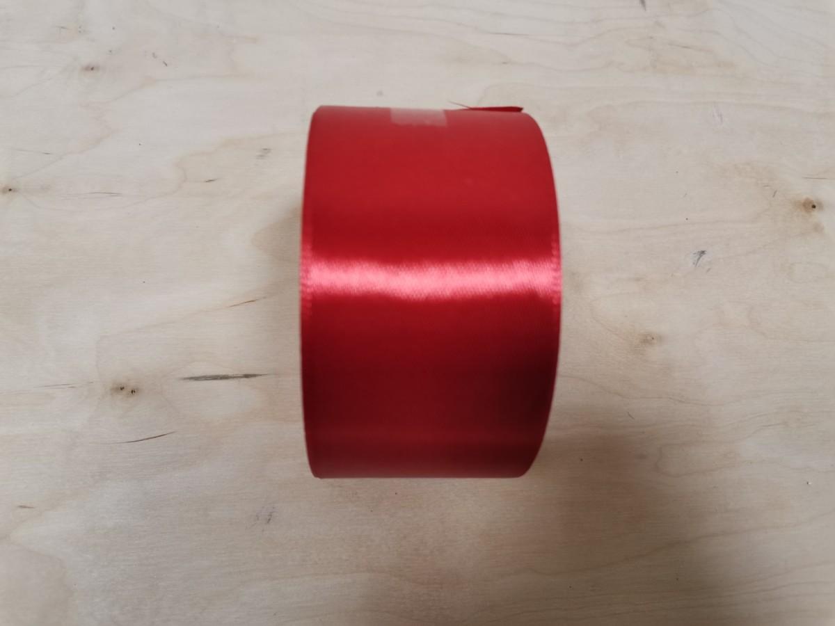 Атласная лента тканная, 5 см * 25 ярдов, цвет - красный