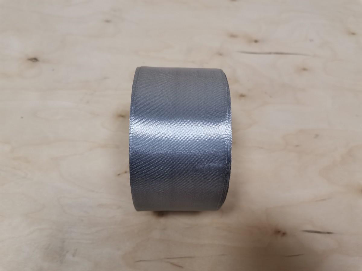 Атласная лента тканная, 5 см * 25 ярдов, серебристая