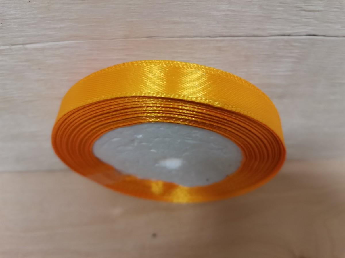 Лента атласная 1,2 см * 25 ярдов, жёлтая.