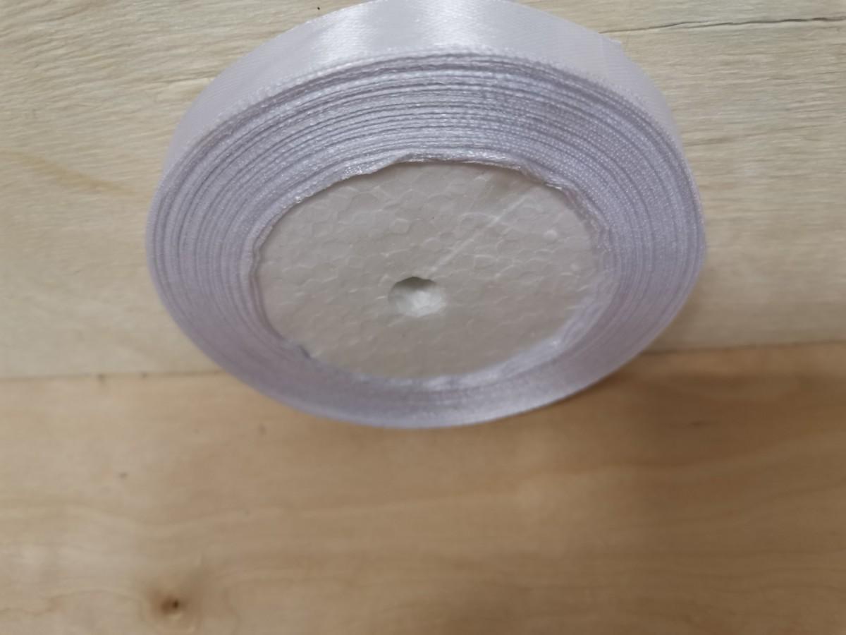 Атласная лента 1,2 см * 25 ярдов, белая