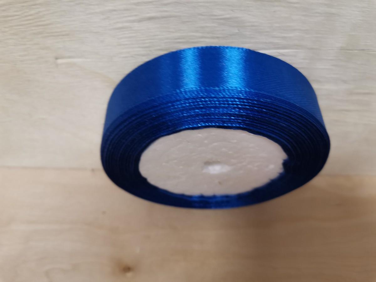 Атласная лента тканная, 19 мм * 25 ярдов, синяя