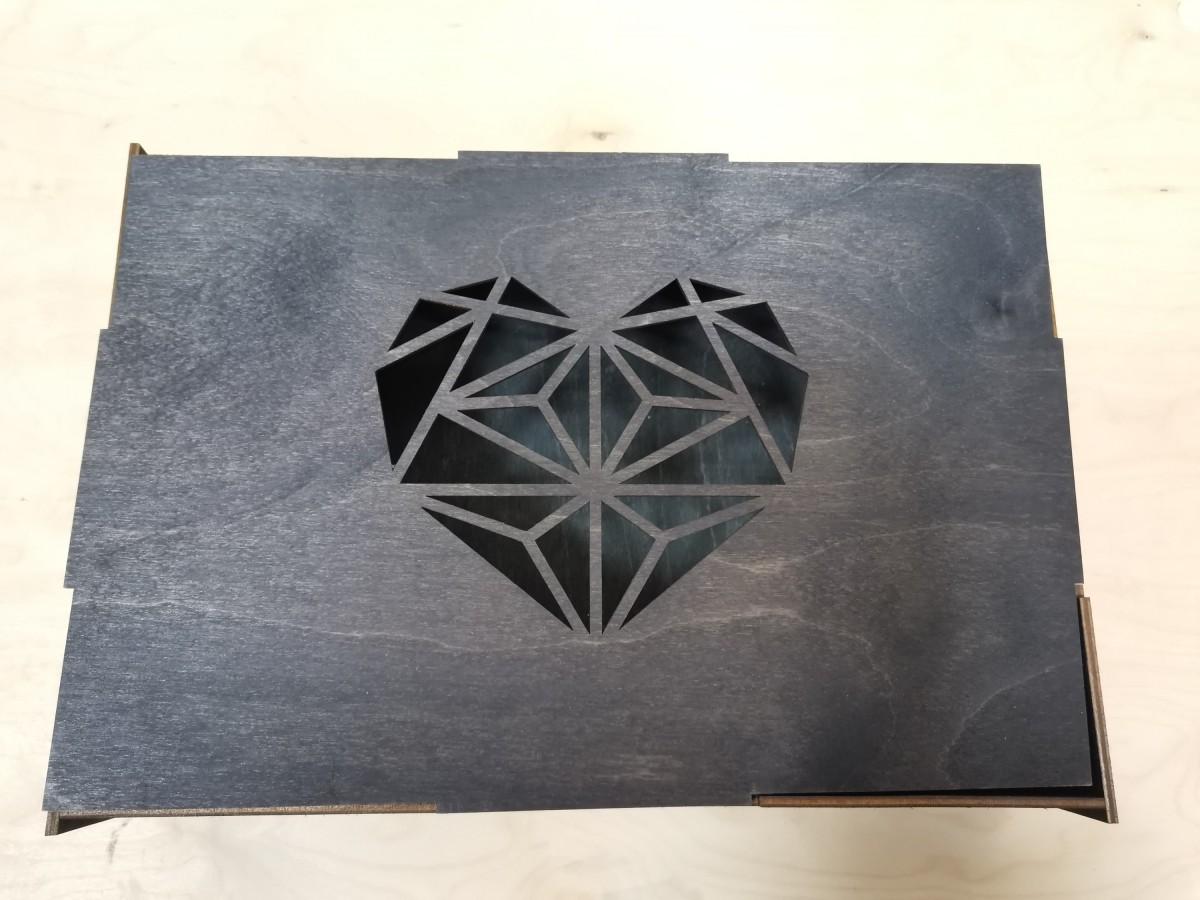 "Коробка подарочная ""Сердце"", 30*21*6,5 см."