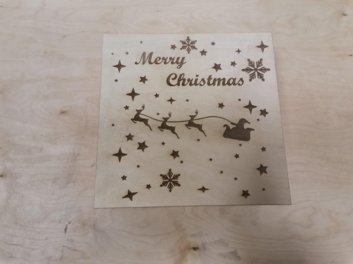 "Коробка подарочная ""Merry Christmas"", 20*20*8 см."