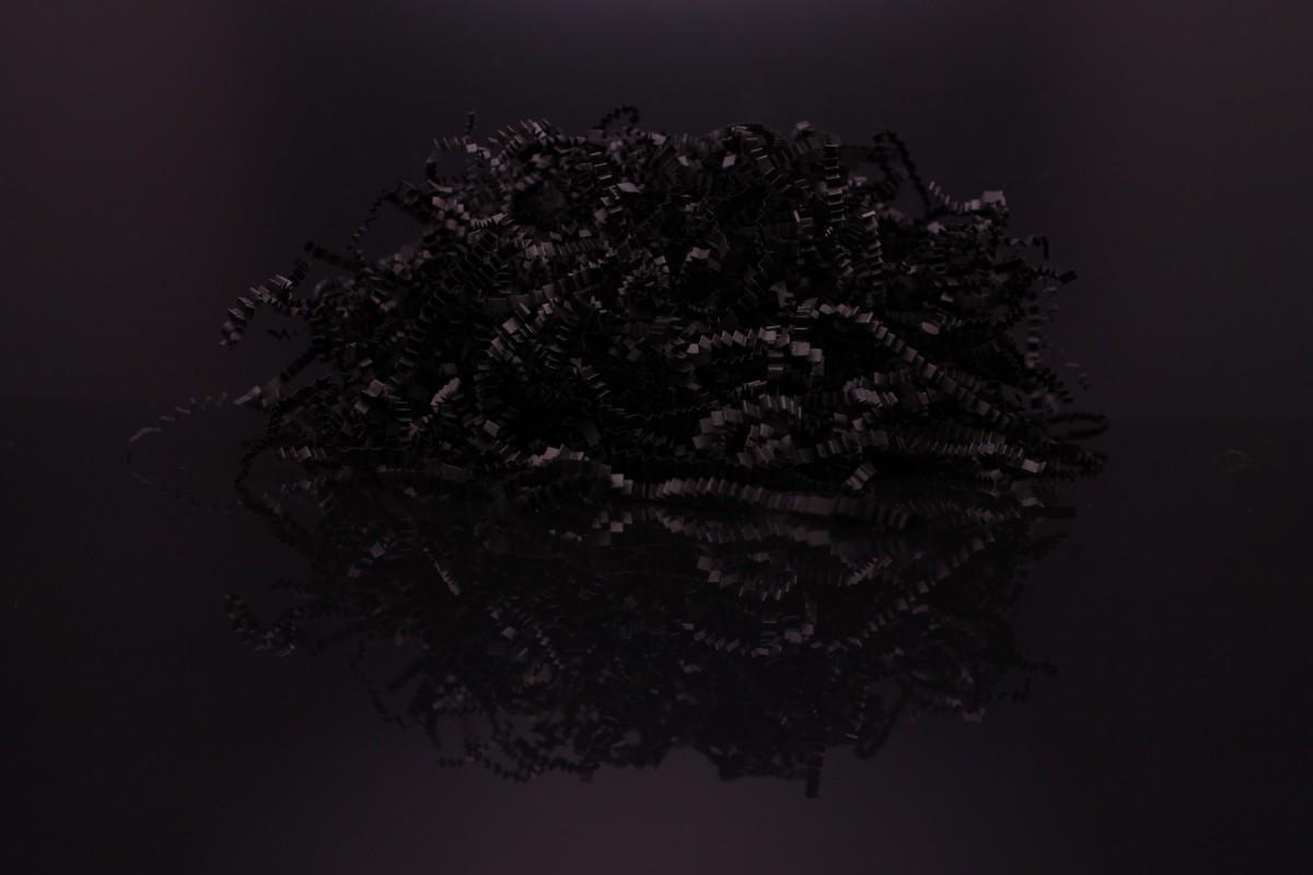 Бумажный наполнитель, 1 кг, цвет - Чёрный. Толщина 3мм, плотность 80.
