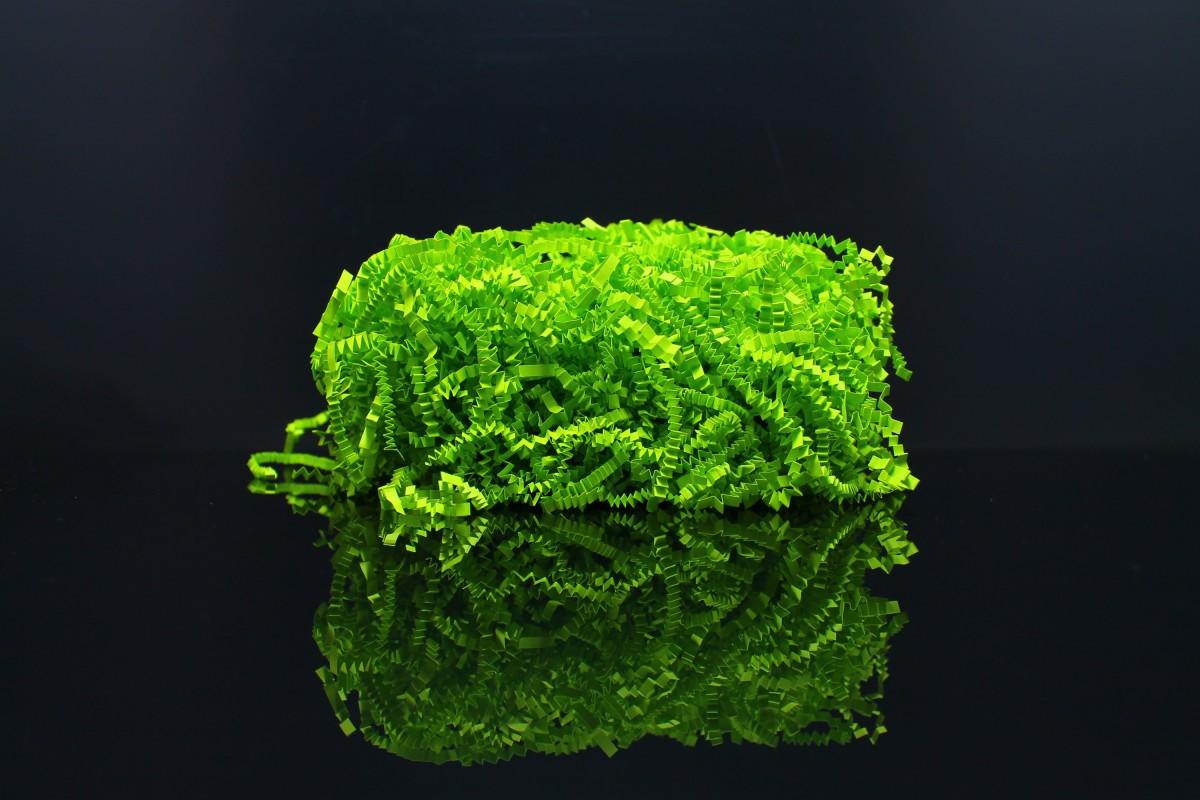 Бумажный наполнитель, 100 гр, толщина 3мм, плотность 80, цвет - зелёная - липа.