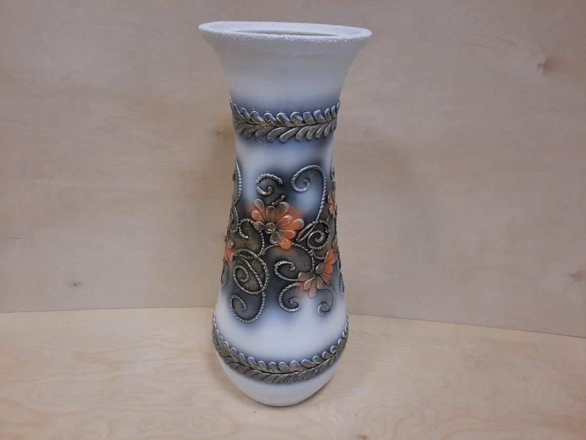 Ваза напольная, керамика, Осень, шамот, 64 см.