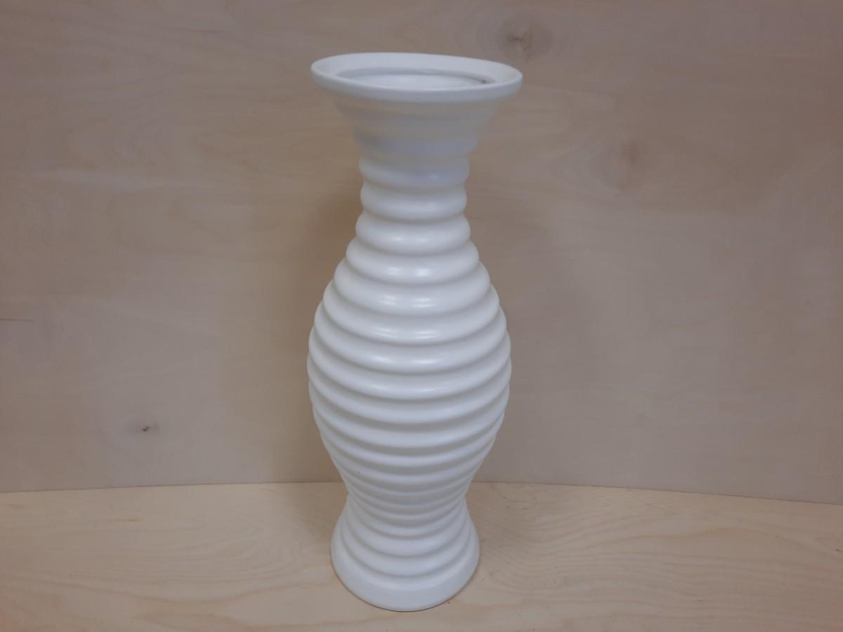 """Ваза напольная, керамика, """"Славянка"""", белая. 42 см."""