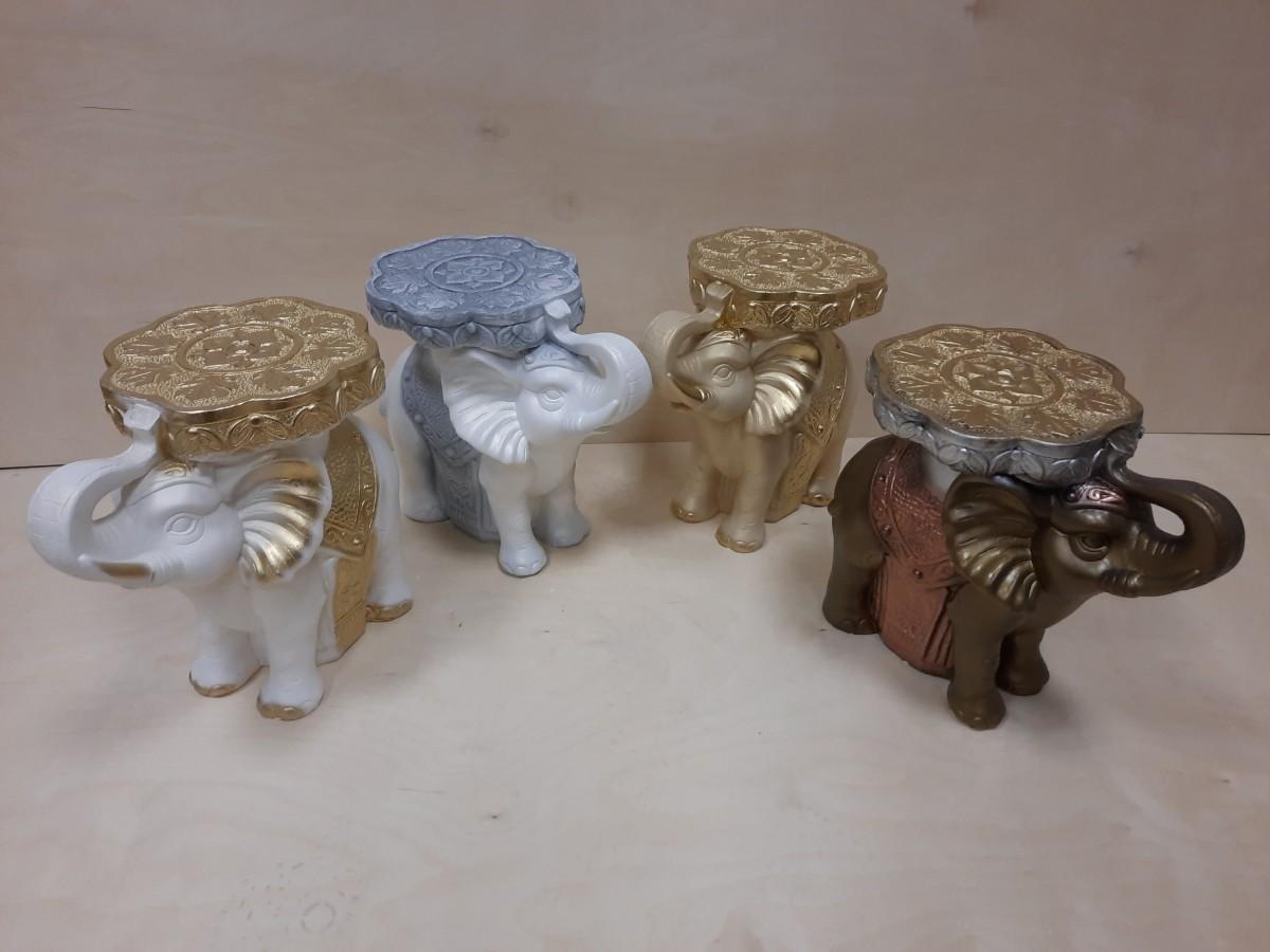 Слон средний, гипс, h - 34 см, L - 41 см, ш - 22 см. Цвет в ассортименте.