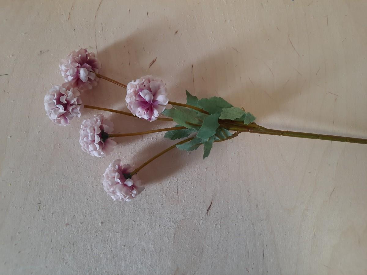 Ветка бархоток, 41 см, цвет - розовый.