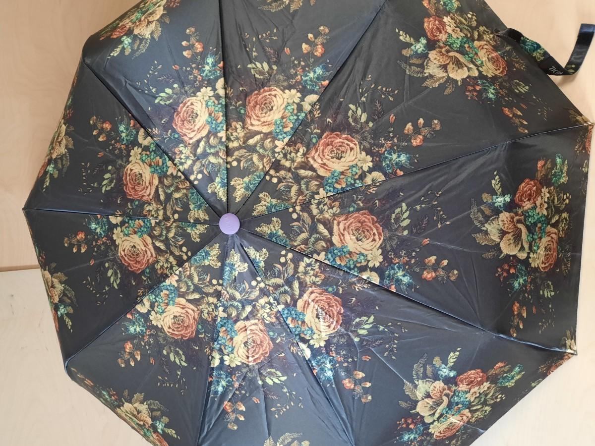 Зонт женский полуавтомат, 9 спиц, шёлк.