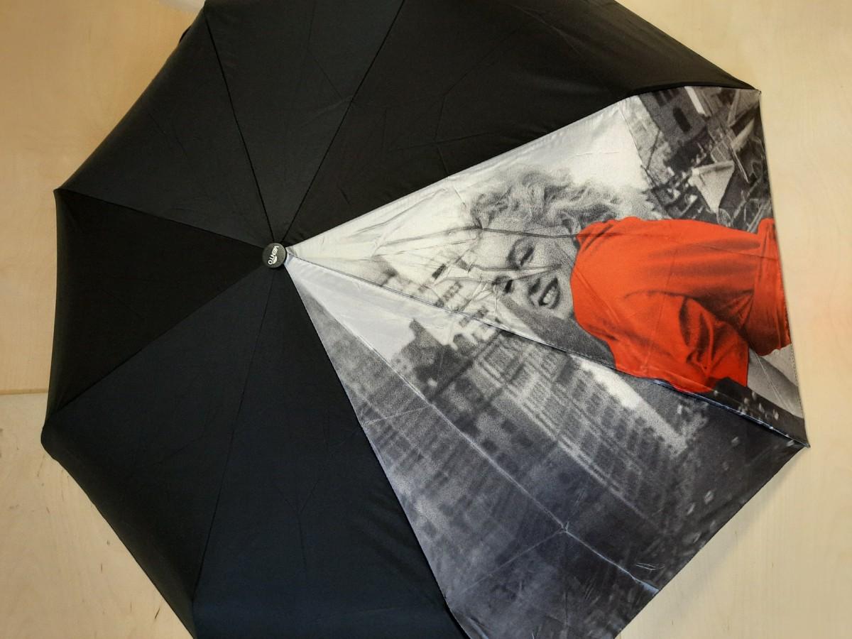 Зонт женский автомат, 8 спиц, Мерлин Монро.