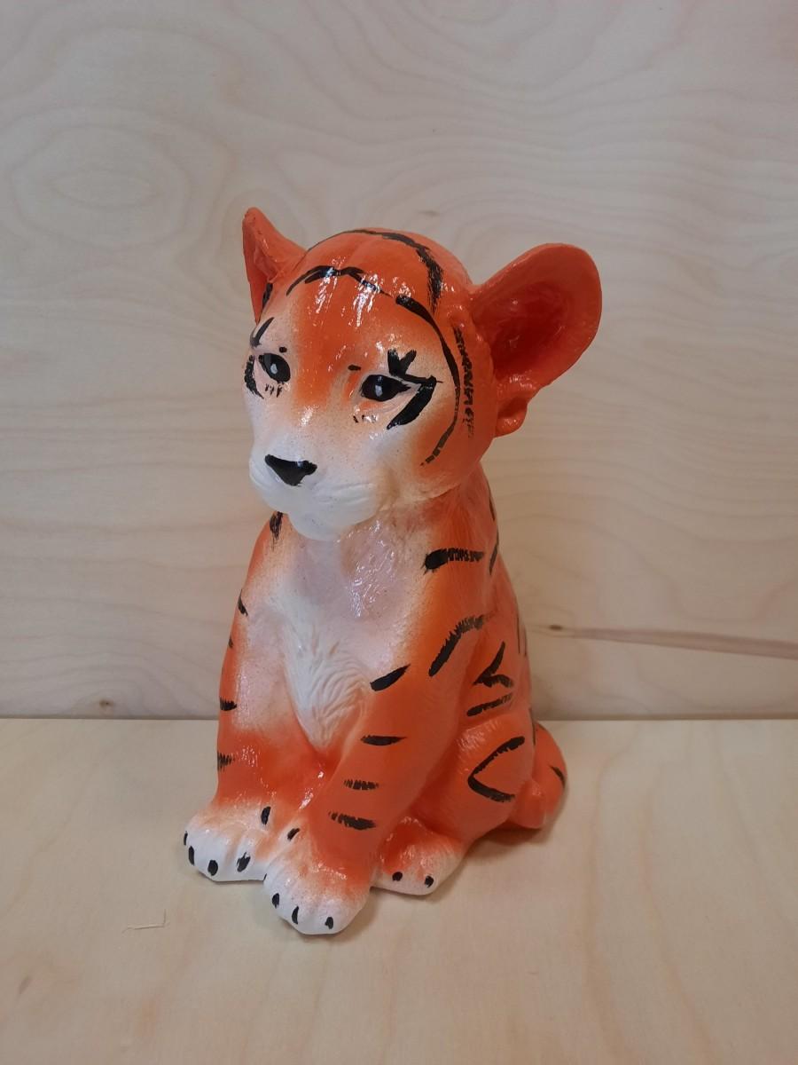 Копилка Тигр, 24*16 см, гипс, цвет - рыжий.