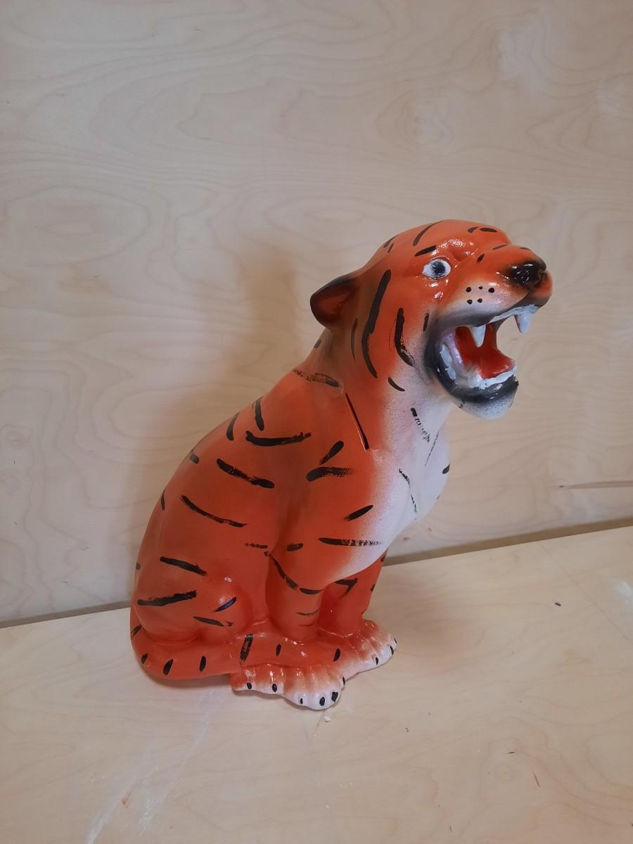"""Копилка """"Тигр"""", 45 см, гипс."""
