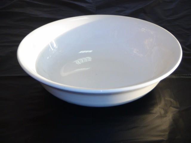 Миска глубокая, белая D=21 см.