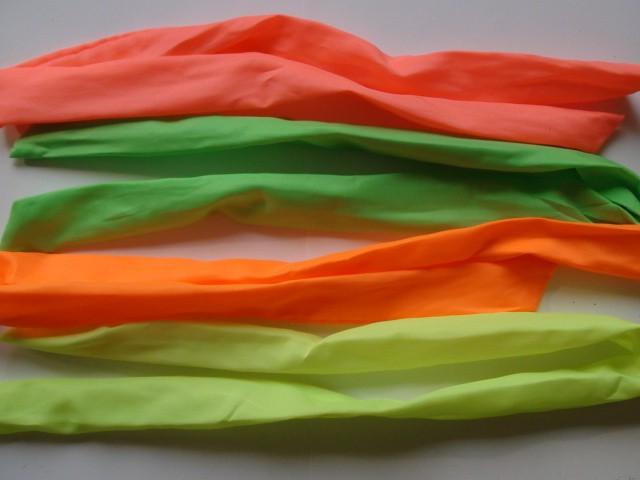 Заколка-повязка для волос в ассортименте 70 см., металл, ткань, 1 штука.