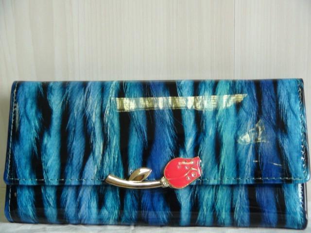 Кошелек женский, кожзам, 18*10*3,5 см, голубой