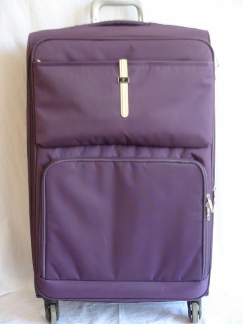 Чемодан большой, фиолетовый, 4 колеса, 77*47*28, увелич.+5 см., ткань