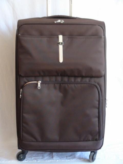 Чемодан большой, коричневый, 4 колеса, 77*47*28, увелич.+5 см., ткань
